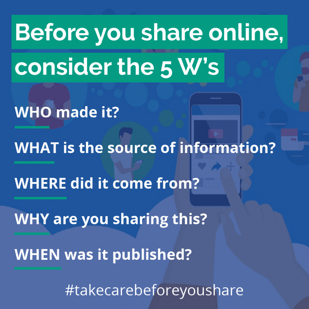 Take Care before your share